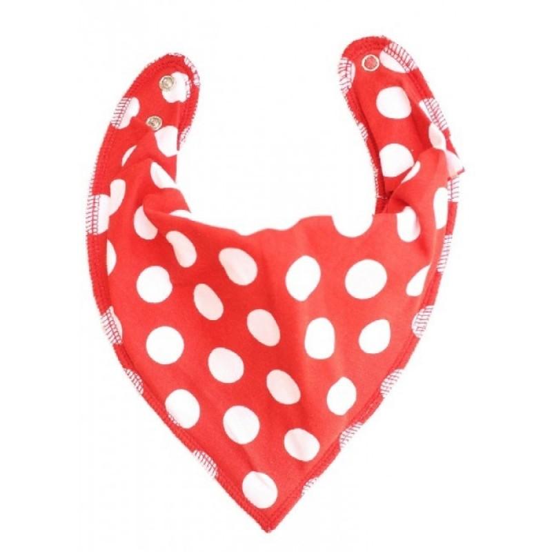 DryBib Bandana Bib - Red Polka