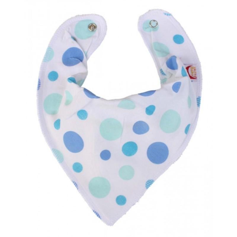 DryBib Bandana Bib - Blue Spots