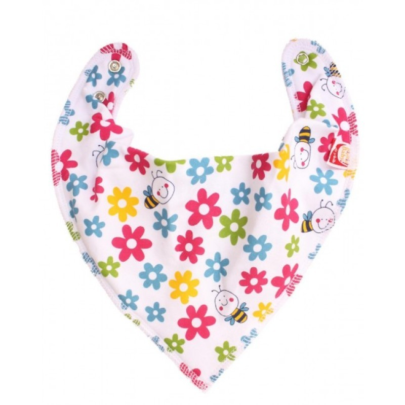 DryBib Bandana Bib - Flowers and Bees