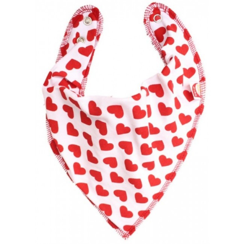 DryBib Bandana Bib - Red Heart