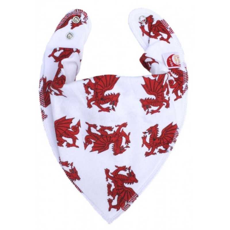 DryBib Bandana Bib - Welsh Dragons